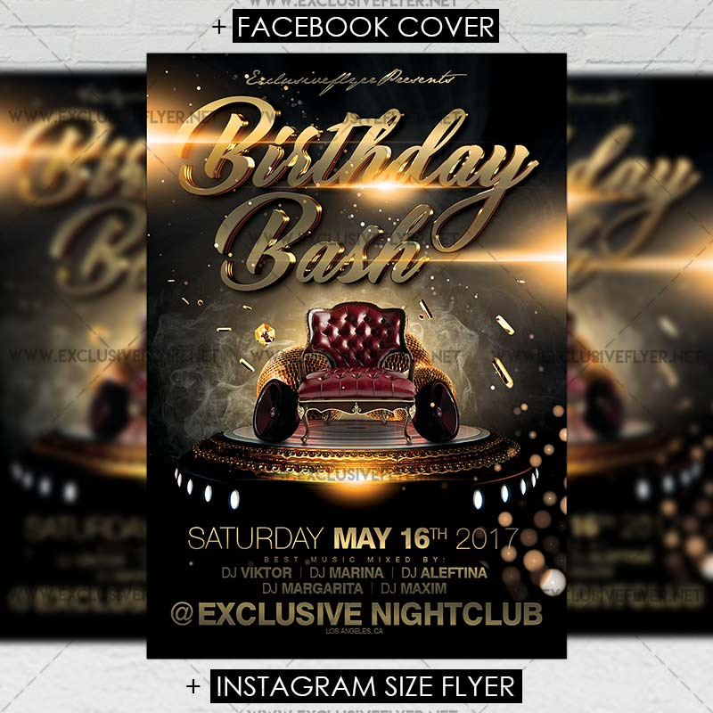 Birthday Bash Premium A5 Flyer Template Exclsiveflyer Free And