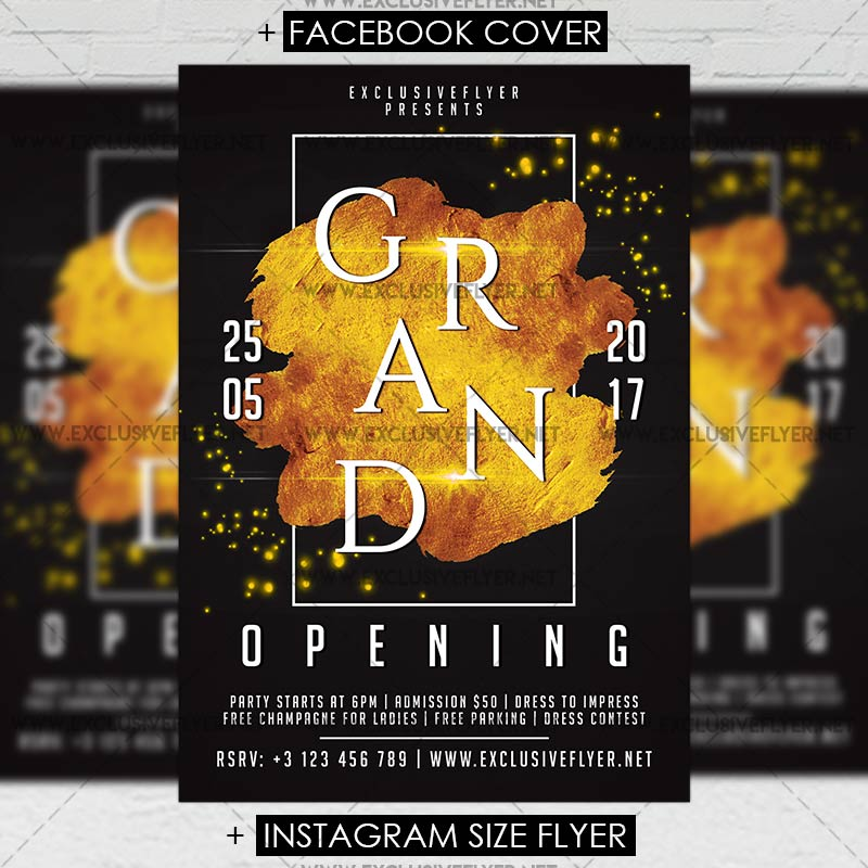 grand opening premium a5 flyer template exclsiveflyer free and