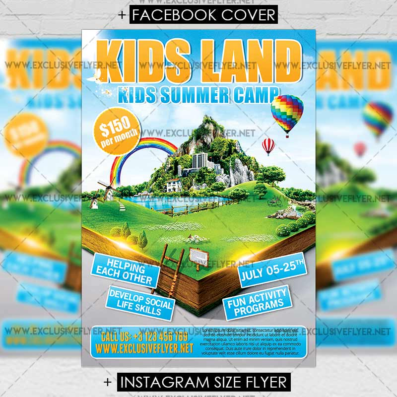 Kids Land Premium Flyer Template 1