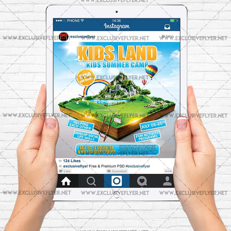 Kids Land Premium Flyer Template 4