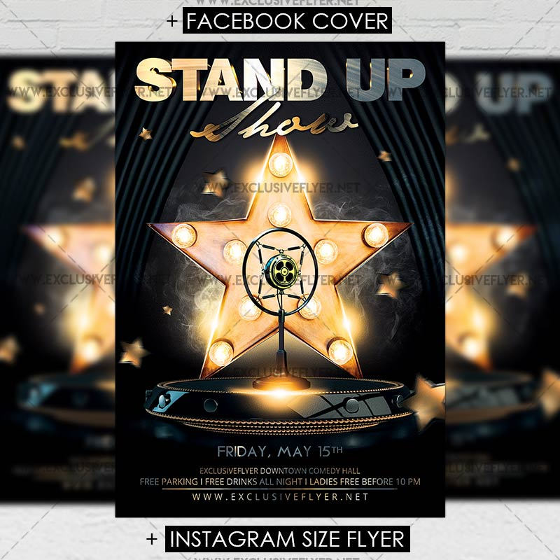 Stand Up Show Premium Flyer Template 1