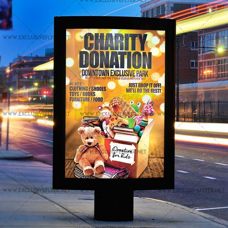Charity Donation Premium A5 Flyer Template – Donation Flyer Template