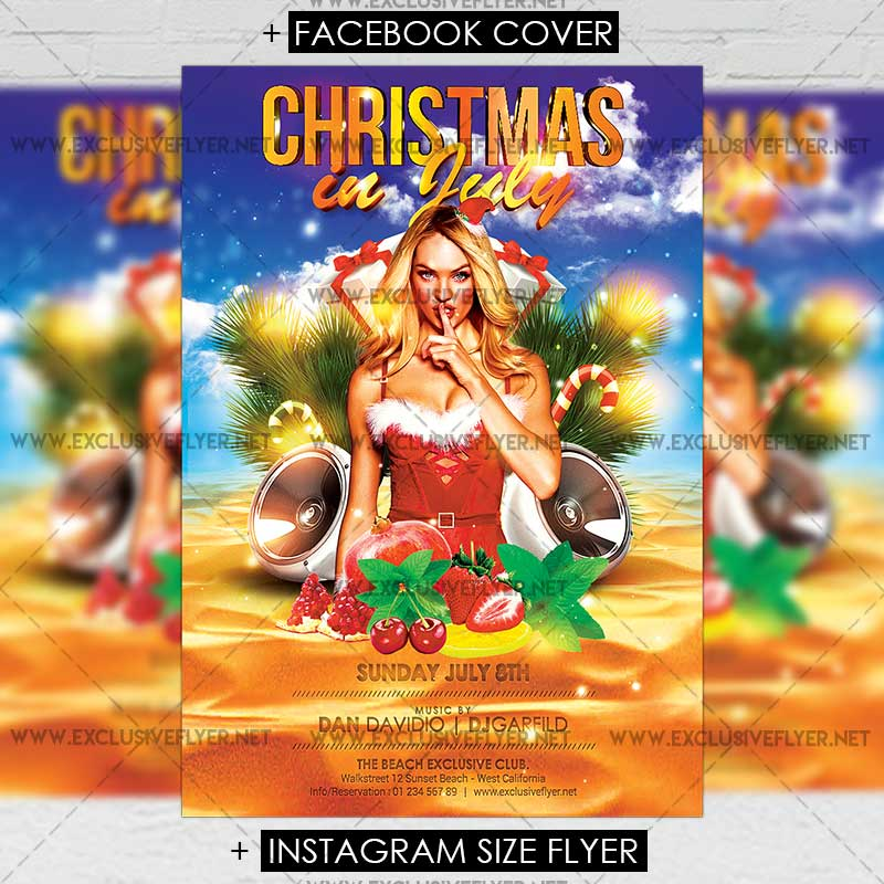 Christmas In July - Premium A5 Flyer Template ExclsiveFlyer