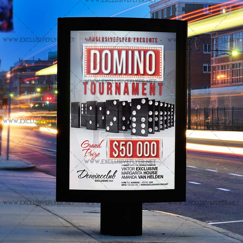 Domino Tournament Premium A5 Flyer Template Exclsiveflyer Free
