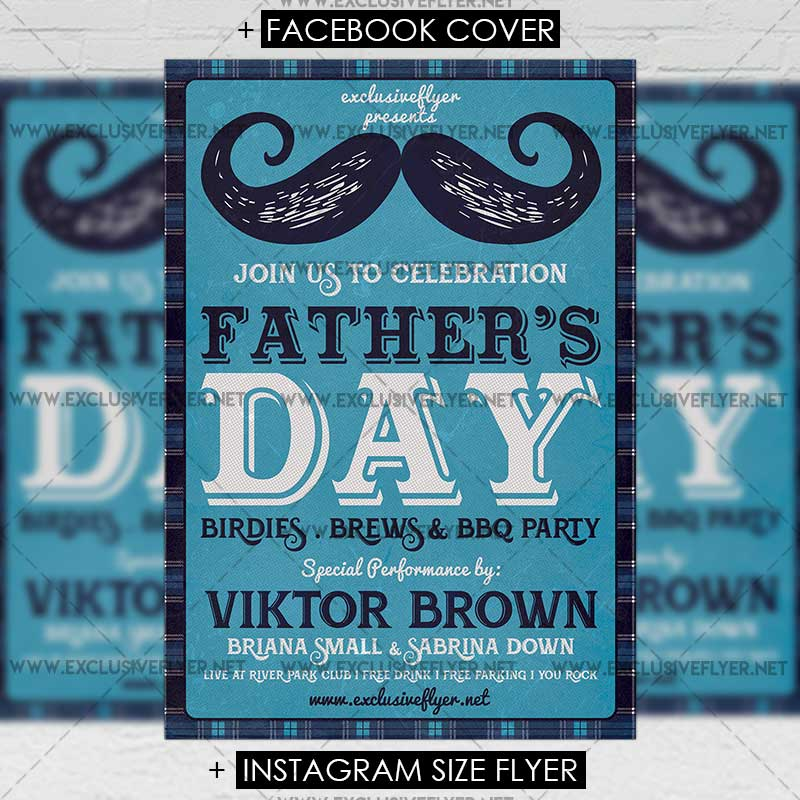 Fathers Day Premium A5 Flyer Template Exclsiveflyer Free And