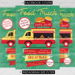 Street Food ExclsiveFlyer Free And Premium PSD Templates - Food truck flyer template