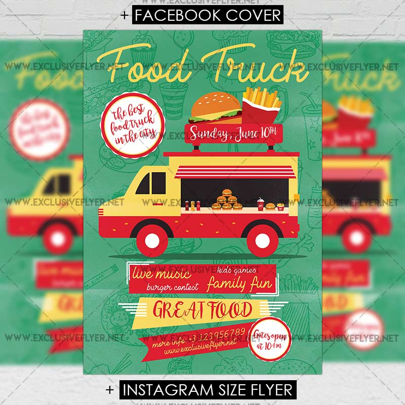 Food Truck Premium A Flyer Template ExclsiveFlyer Free And - Food truck flyer template