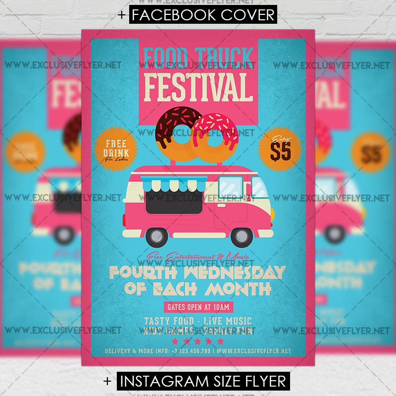 Food Truck Festival Premium A Flyer Template ExclsiveFlyer - Food truck flyer template