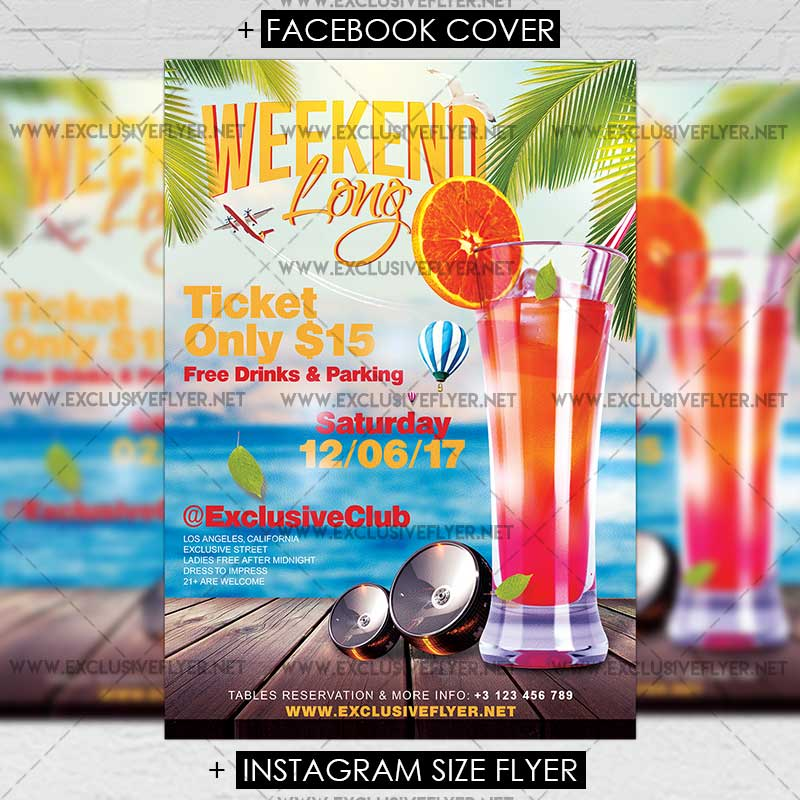 15 Excellent Flyer Templates For Your Next Event: Long Weekend €� Premium A5 Flyer Template