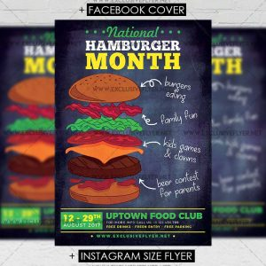 national_hamburger_month-premium-flyer-template-1