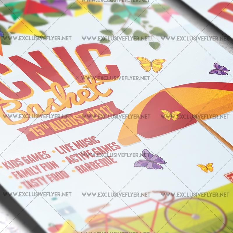 Picnic Basket – Premium A5 Flyer Template | Exclsiveflyer | Free
