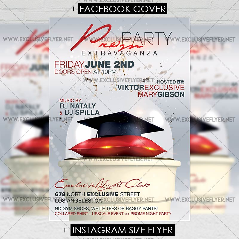 Prom Night 2017 Premium A5 Flyer Template Exclsiveflyer Free