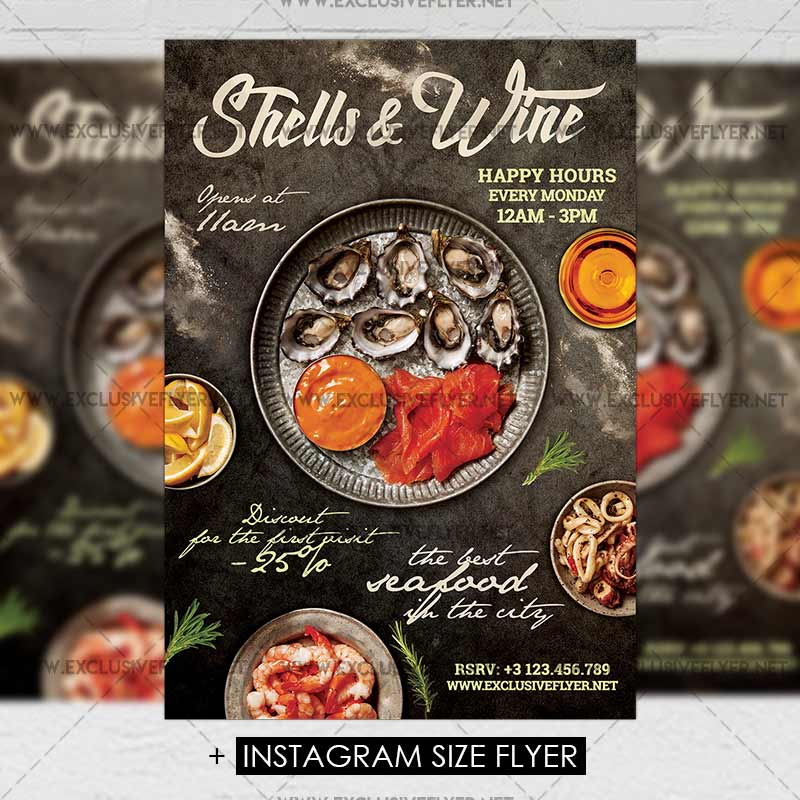 Shell and wine premium a5 flyer template exclsiveflyer free shellsandwine premium flyer template maxwellsz