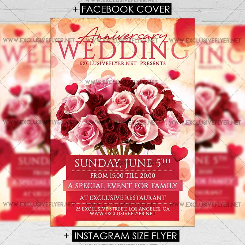 Wedding Anniversary Flyers Templates Free