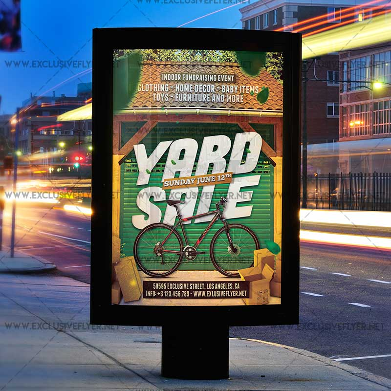Yard Sale – Premium A5 Flyer Template | Exclsiveflyer | Free And