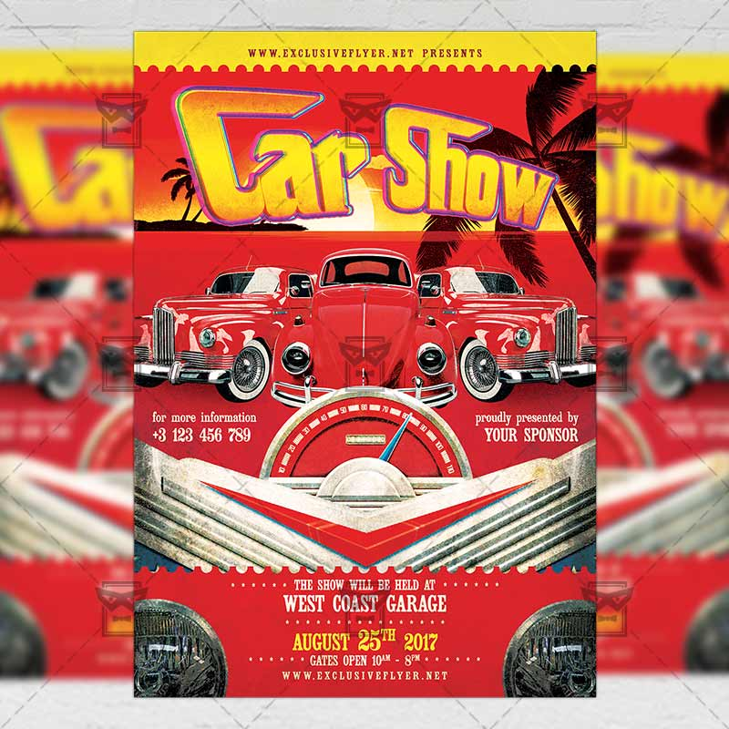 car show premium a5 flyer template exclsiveflyer free and