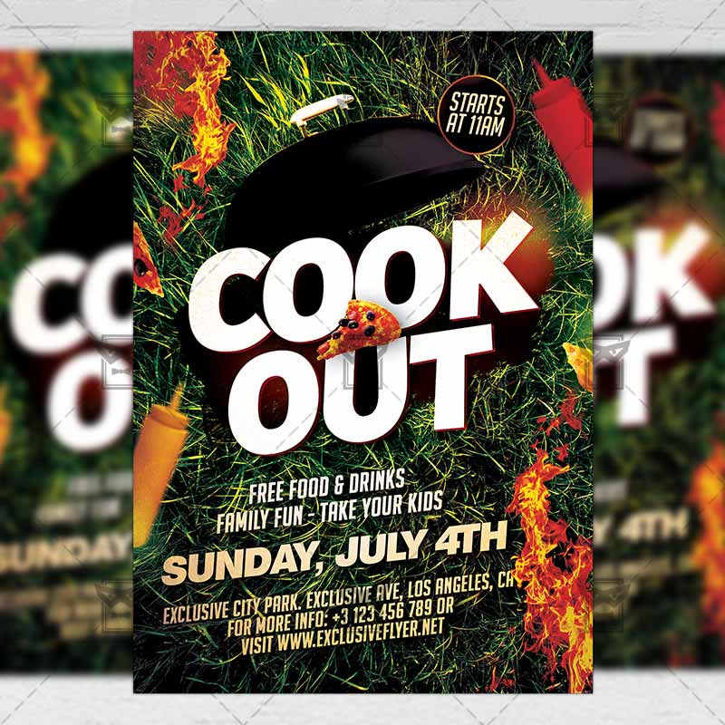 Cook Out Premium A5 Flyer Template Exclsiveflyer Free And