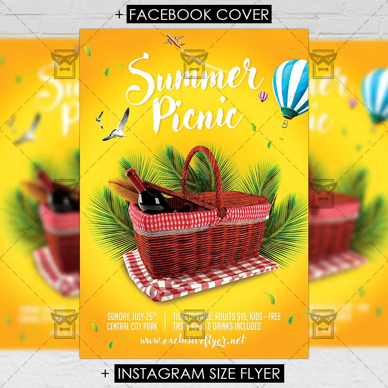 Picnic Premium A5 Flyer Template Exclsiveflyer Free And