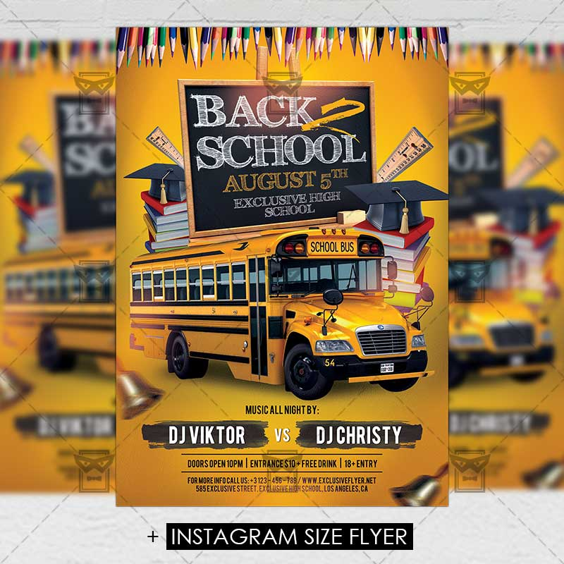 Back To Top 2 School Premium Flyer Template 1