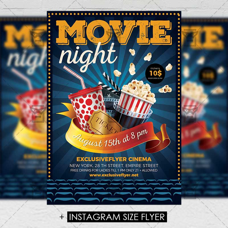 Movie night premium a5 flyer template movienight premium flyer template 1 maxwellsz
