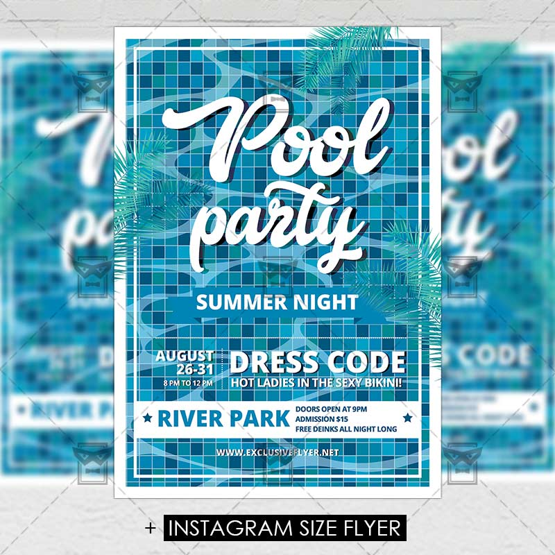 Pool Party Premium A5 Flyer Template Exclsiveflyer Free And