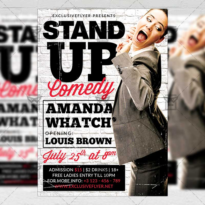 Stand Up Comedy – Premium A5 Flyer Template | ExclsiveFlyer | Free ...