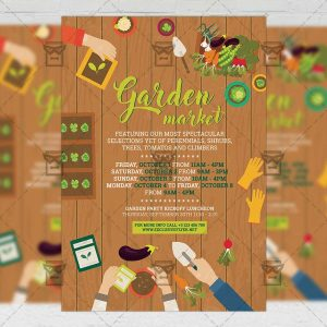 Garden Market - Community A5 Flyer Template