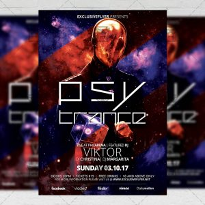 Psy Trance Night - Club A5 Flyer Template