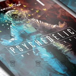 Psychedelic Music Night - Club A5 Flyer Template
