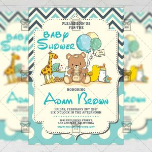Baby Shower - Kids A5 Flyer Template