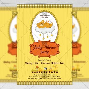 Baby Shower Party - Kids A5 Flyer Template