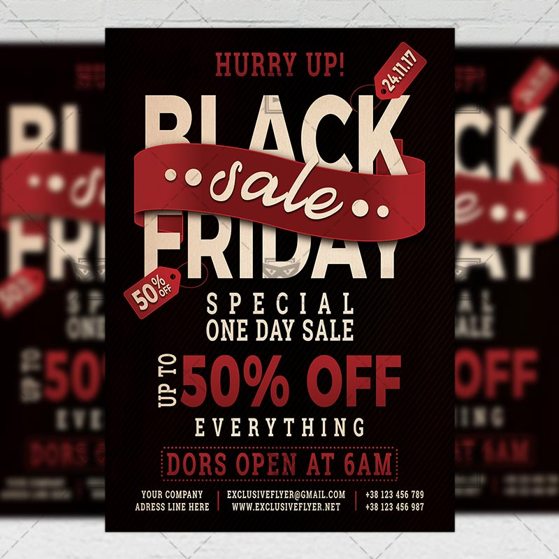 Download Black Friday Sale – Community A5 PSD Flyer Template