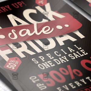 Download Black Friday Sale PSD Flyer Template Now