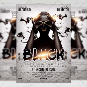 Black Night - Club A5 Flyer Template