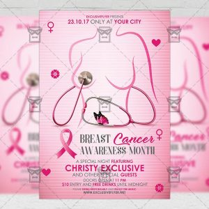 Breast Cancer Month - Community A5 Flyer Template