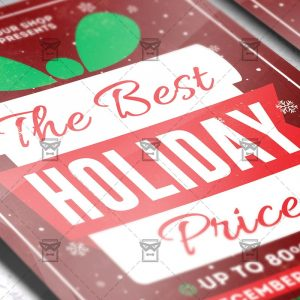 Christmas Sale - Seasonal A5 Flyer Template