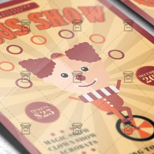 Download Circus Show PSD Flyer Template Now