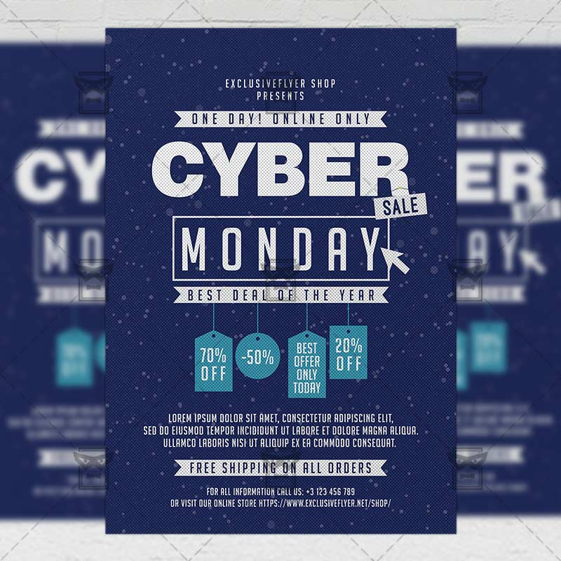 Download Free Cyber Monday Sale – Community A5 Flyer PSD Template