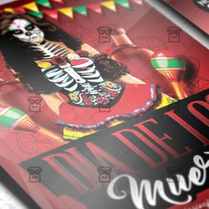 Dia De Los Muertos Night - Seasonal A5 Flyer Template