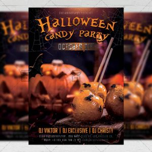 Halloween Candy Party - Seasonal A5 Flyer Template