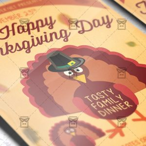 Download Happy Thanksgiving Day PSD Flyer Template Now