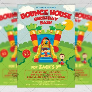 Download Kids Birthday Bash PSD Invitation Card Template Now