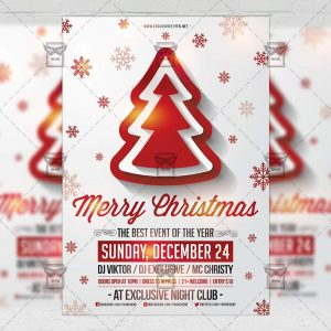 Download Merry Christmas PSD Flyer Template Now