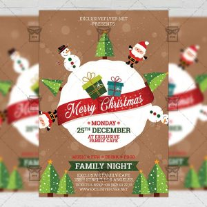 Merry Christmas 2017 - Seasonal A5 Flyer Template