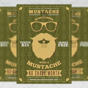 Movember Party - Seasonal A5 Flyer Template