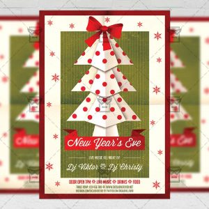 New Year's Eve - Seasonal A5 Flyer Template