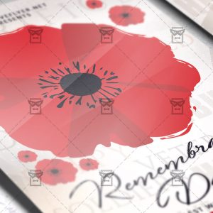 Download Remembrance Day PSD Flyer Template Now