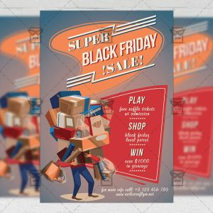 Super Black Friday Sale - Community A5 Flyer Template