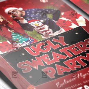 Ugly Sweaters Party - Seasonal A5 Flyer Template