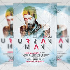 Urban Man - Club A5 Flyer Template